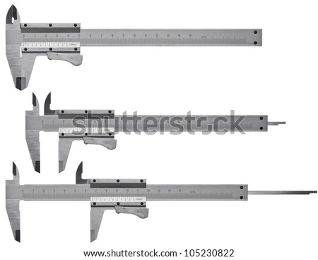 Calipers isolated on white background - stock photo