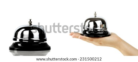 call bell  isolated on the hand