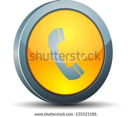 Call button - stock photo