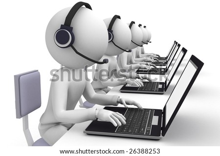 call center - stock photo