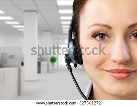 Call Center. - stock photo