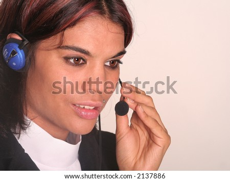 call-center girl