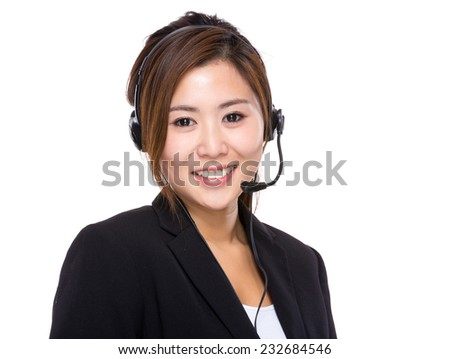 Call center helper - stock photo