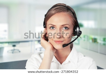 Call Center. IT-support - stock photo