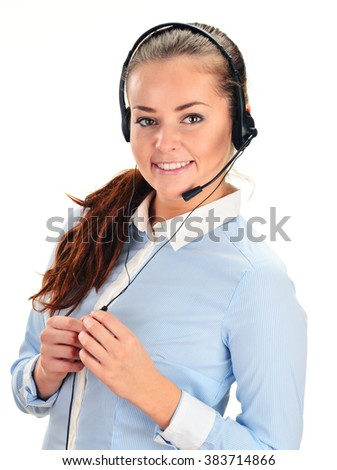 Call center operator. Customer support. Help desk.  - stock photo