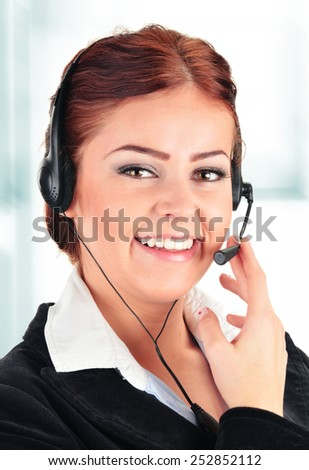 Call center operator. Customer support. Helpdesk.  - stock photo