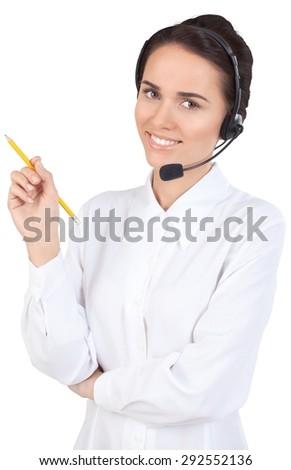 Call Center, Operator, Women. - stock photo