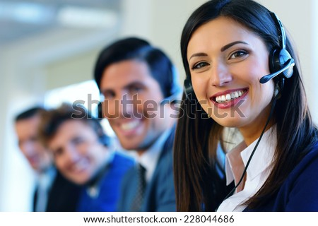 Call center operators - stock photo