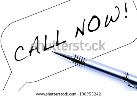 Call Now! - stock photo
