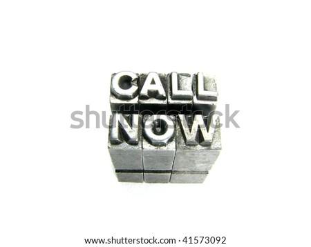 Call Now - stock photo
