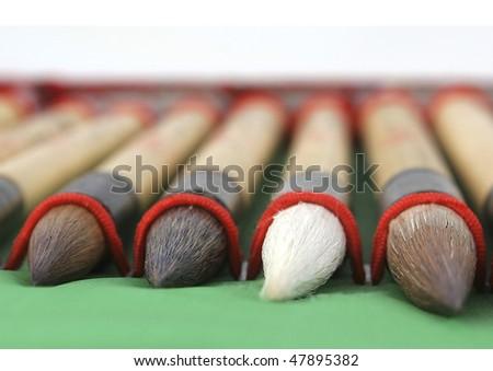 calligraphy brushes - stock photo