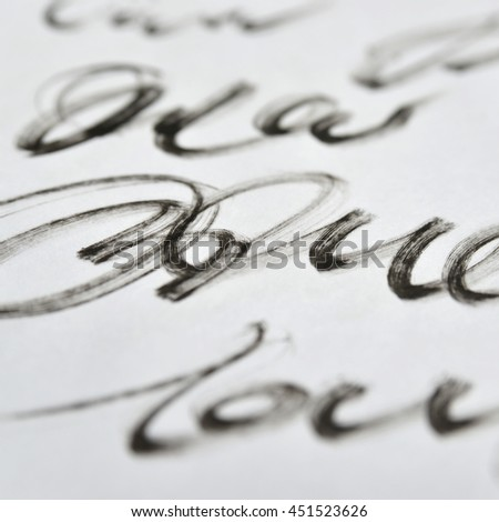 Calligraphy. Handwriting. Abstract background