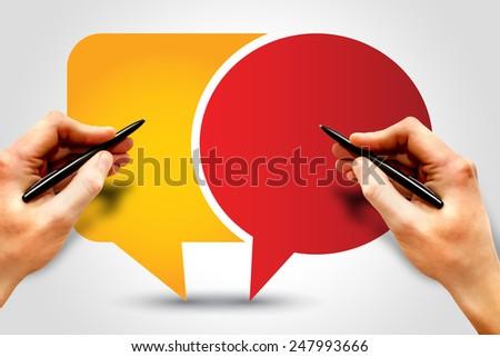 Callout, Speech Bubbles, business concept - stock photo