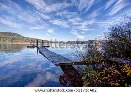 Calm Chatcolet lake in Heyburn State Park near Plummer, Idaho