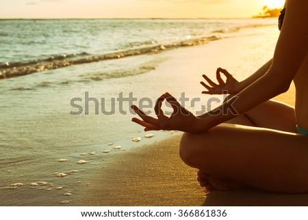 Calm meditation.  - stock photo