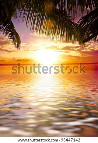 Calm Ocean Render - stock photo