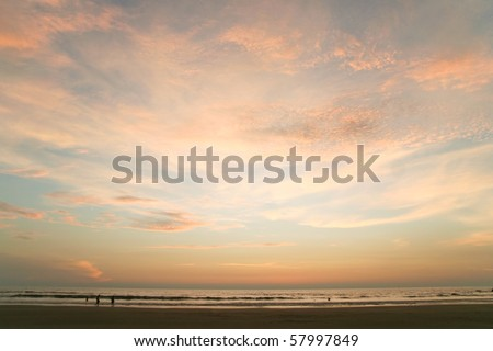 calm sunset - stock photo