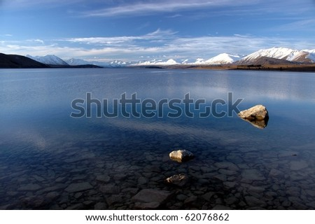 Calm water of New Zealand's Lake