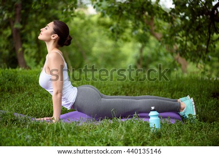 Calm young woman going for sports