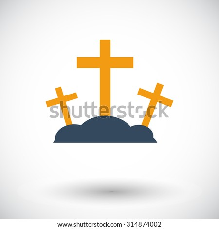 Calvary. Single flat icon on white background.  illustration.