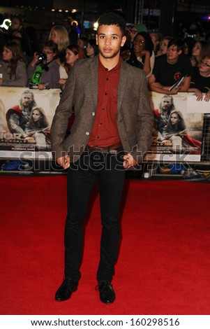 "Calvin Demba arrives for the world premiere of ""Thor: The Dark World"" at the Odeon Leicester Square, London. 22/10/2013"