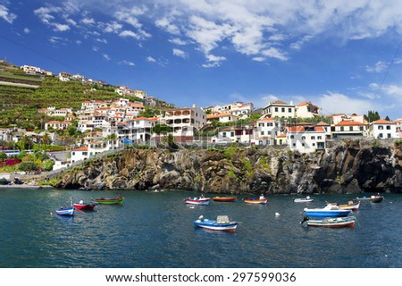 Camara de Lobos resort, Madeira island, Portugal - stock photo