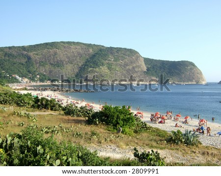 Camboinhas beach in Niterói, Rio de Janeiro, Brazil - stock photo