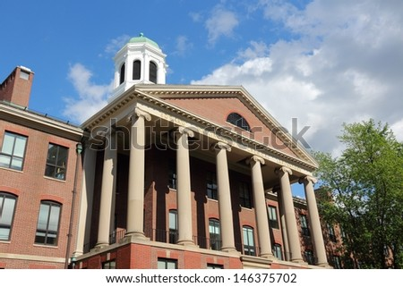 Cambridge, Massachusetts in the United States. Famous Harvard University - Edward Mallinckrodt chemical laboratory. - stock photo