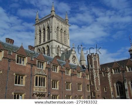 Cambridge, St John's college - stock photo