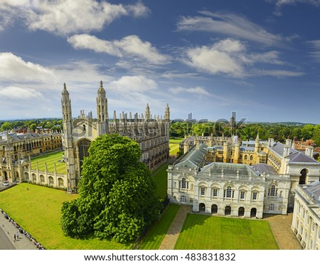 Cambridge, view of King's College Chapel, University of Cambridge, England. Cambridge is a university city and the county town of Cambridgeshire, England, north of London.