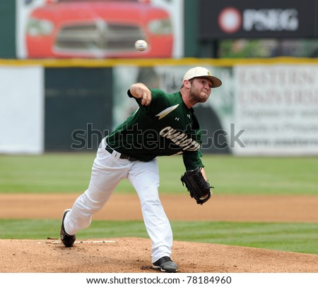 CAMDEN, NJ - MAY 27: Charlotte 49'er pitcher Tyler Barnette delivers a pitch early in an Atlantic 10 baseball tournament game against Rhoe Island on May 27, 2011 in Camden, NJ.