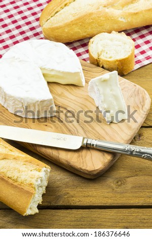 Camembert Cheese and Baguette