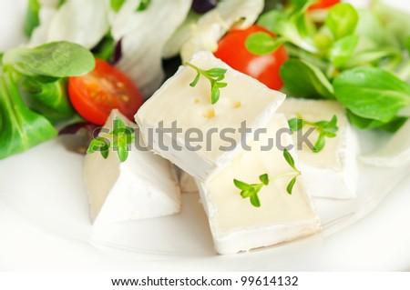 Camembert plate - stock photo