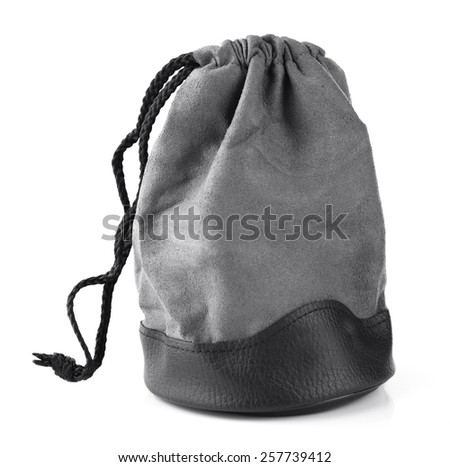 Camera bag isolated on white - stock photo