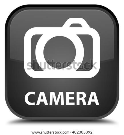 Camera black square button - stock photo
