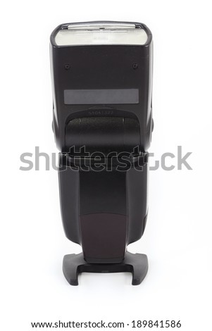 Camera flash light isolate on white background - stock photo