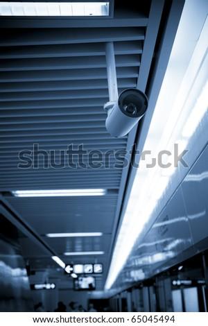Camera in Subway - stock photo