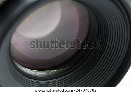 Camera lens close-up - stock photo