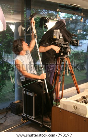 Camera Man Assistant - stock photo