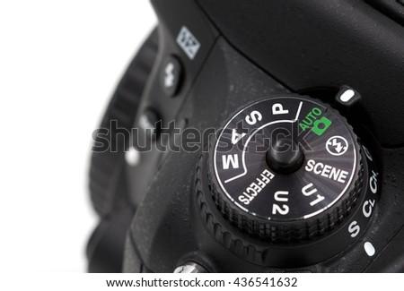 Camera, mode, DSLR - stock photo