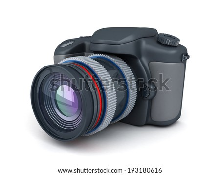 Camera on white background (done in 3d)