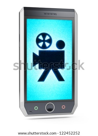 camera  This is my own design of smart phone, therefore you can use this picture for commercial purposes. Full collection of icons like that is in my portfolio - stock photo