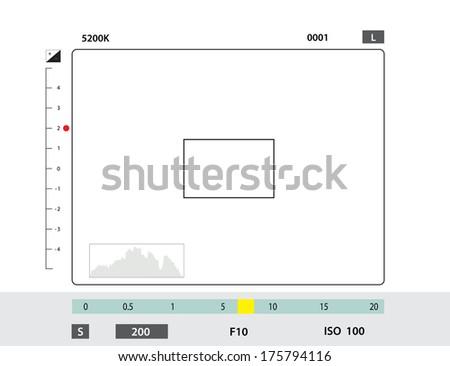 camera viewfinder - stock photo