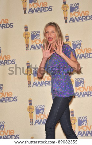 Cameron Diaz at the 2009 MTV Movie Awards at Universal Studios Hollywood. May 31, 2009  Los Angeles, CA Picture: Paul Smith / Featureflash - stock photo