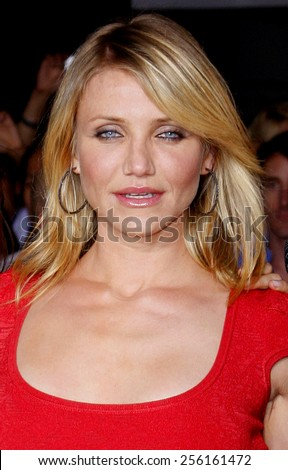 "Cameron Diaz attends the World Premiere of ""What Happens in Vegas"" held at the Mann Village Theater in Westwood, California, United States on May 1, 2008."