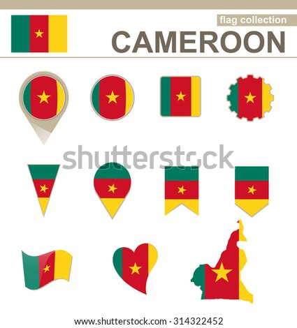 Cameroon Flag Collection, 12 versions, Rasterized Copy