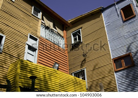 Caminitos in La Boca. Buenos Aires, Argentina. - stock photo