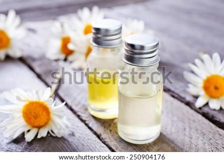 camomille oil - stock photo