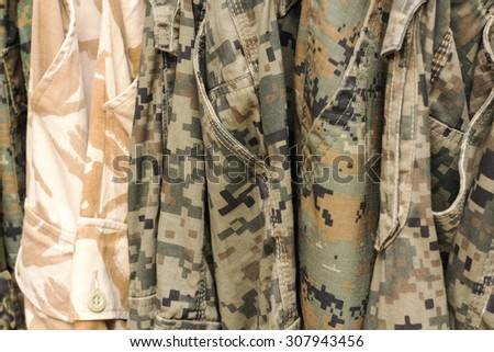 Camouflage pattern background - stock photo