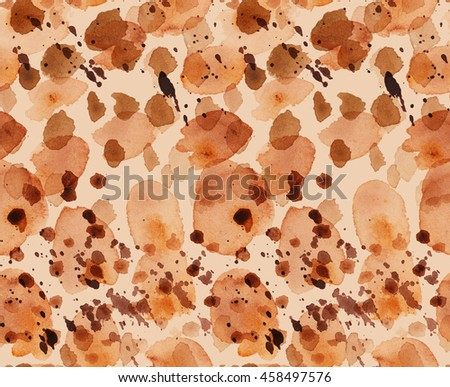 camouflage seamless background. natural khaki sand color pattern. paint stroke watercolor illustration